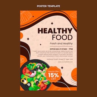 Modèle d'affiche de nourriture réaliste