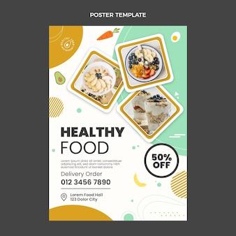 Modèle d'affiche de nourriture saine design plat