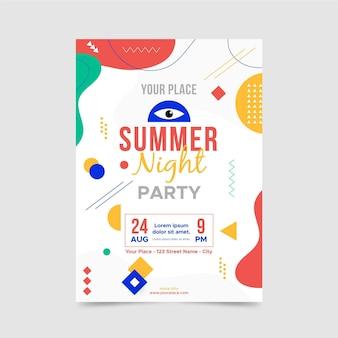 Modèle d'affiche de nuit d'été