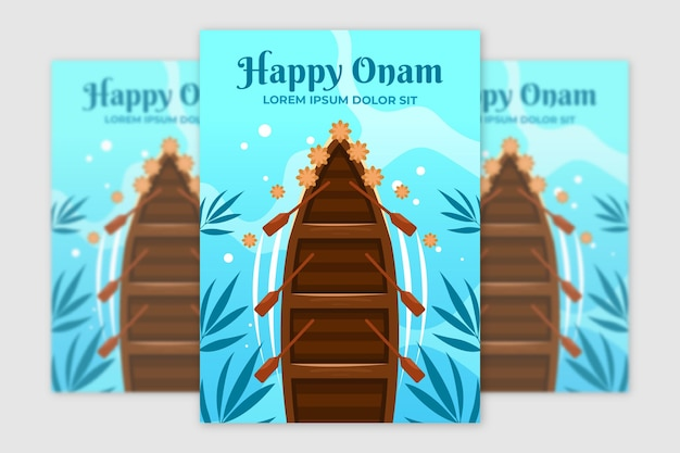 Modèle d'affiche d'onam