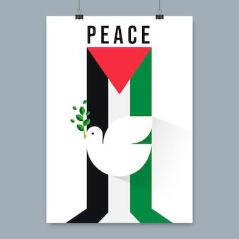 Modèle d'affiche de paix design plat