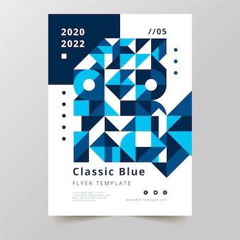 Modèle d'affiche de palette bleue classique