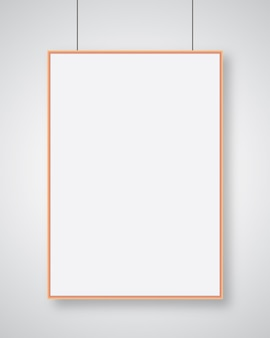 Modèle d'affiche papier de style réaliste moderne d sur fond gris vecteur de conception de fond moderne