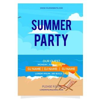 Modèle d'affiche paradis d'été
