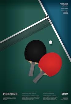 Modèle d'affiche de ping-pong
