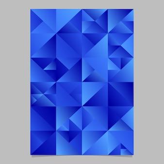 Modèle d'affiche polygonale
