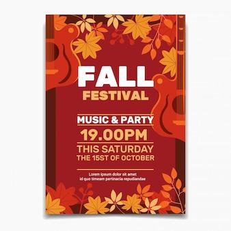 Modèle d'affiche pour le festival d'automne