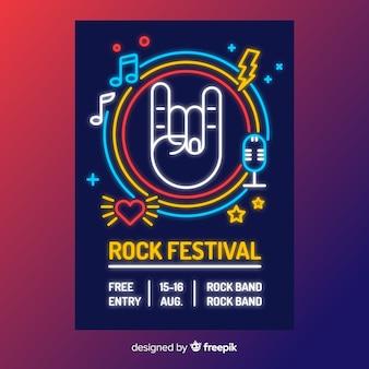 Modèle d'affiche pour le festival de musique abstraite
