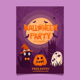 Modèle d'affiche pour la fête d'halloween