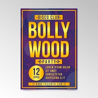 Modèle d'affiche pour le thème de la fête de bollywood