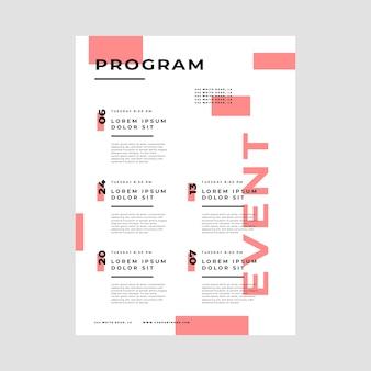 Modèle d'affiche de programmation d'événements