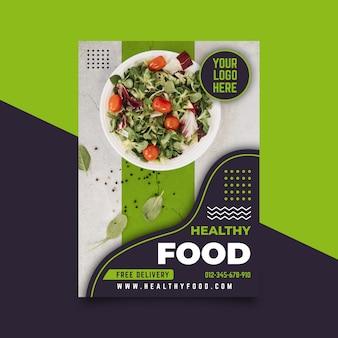 Modèle d'affiche de restaurant de nourriture saine