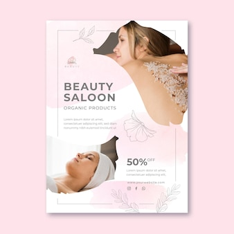 Modèle d'affiche de salon de beauté
