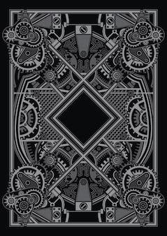 Le modèle d'affiche steampunk s'applique à la conception de chemises