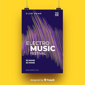 Modèle d'affiche de style de musique électronique