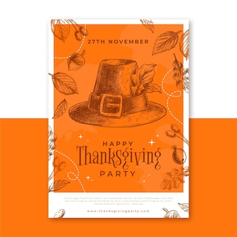 Modèle d'affiche de thanksgiving
