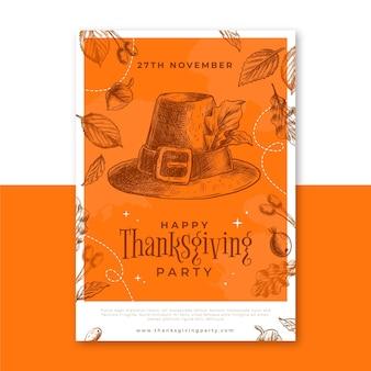 Modèle d'affiche de thanksgiving