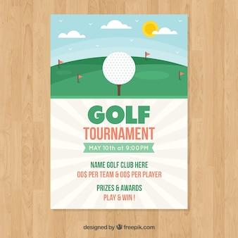 Modèle d'affiche de tournoi de golf