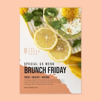 Modèle d'affiche de vendredi brunch