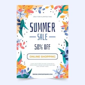Modèle d'affiche de vente d'été