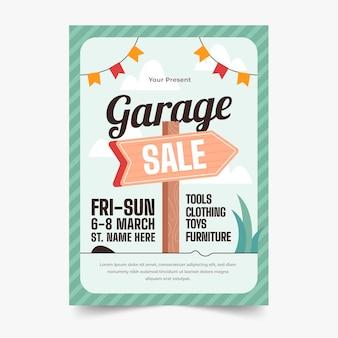 Modèle d'affiche de vente de garage