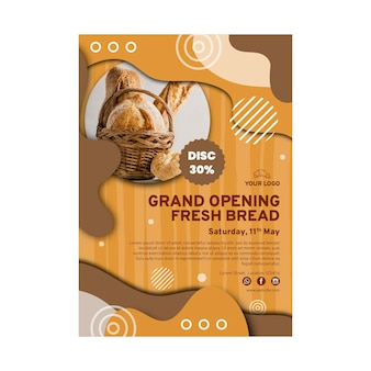 Modèle d'affiche de vente de pain