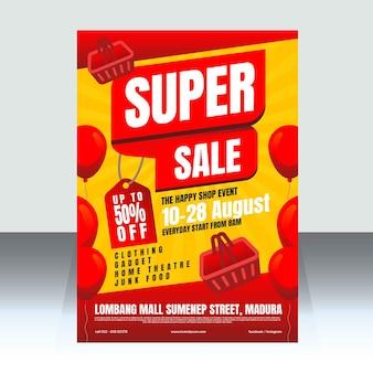 Modèle d'affiche de vente super