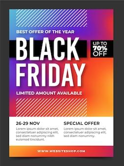 Modèle d'affiche de vente vendredi noir