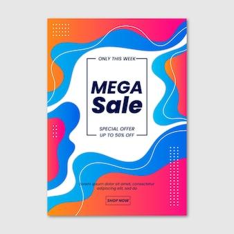 Modèle d'affiche de vente verticale dégradé