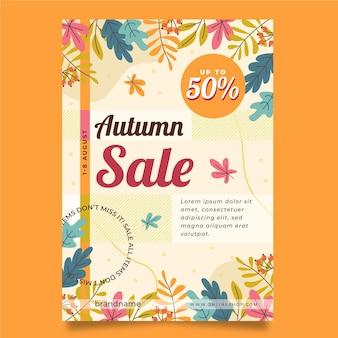 Modèle d'affiche verticale automne