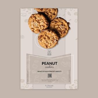 Modèle d'affiche verticale de cookies