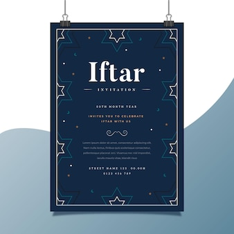 Modèle d'affiche verticale iftar