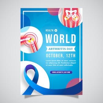 Modèle d'affiche verticale de la journée mondiale de l'arthrite dégradée