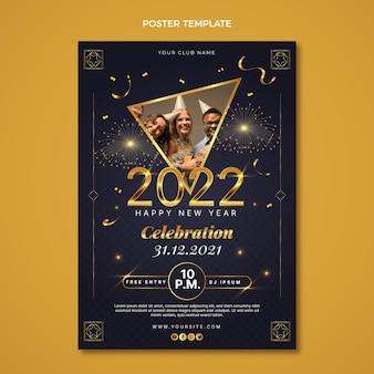 Modèle d'affiche verticale de nouvel an dégradé