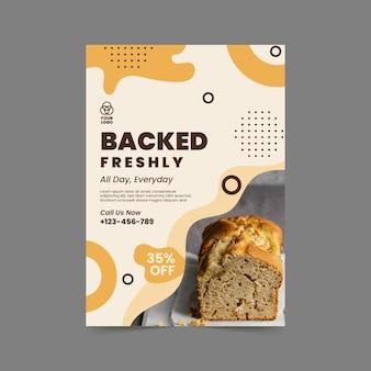 Modèle d'affiche verticale de pain