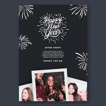 Modèle d'affiche verticale pour la fête du nouvel an