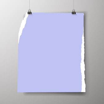 Modèle d'affiche vide. une affiche, un morceau de papier accroché au mur. mise en page de la bannière publicitaire du stand d'exposition, page vierge des images du panneau d'affichage à imprimer