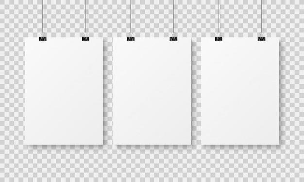 Modèle d'affiche vierge blanche.