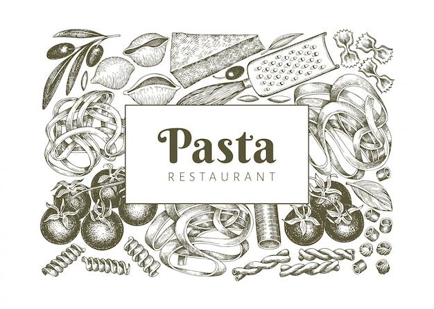 Modèle d'ajouts de pâtes italiennes.
