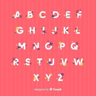 Modèle alphabet floral