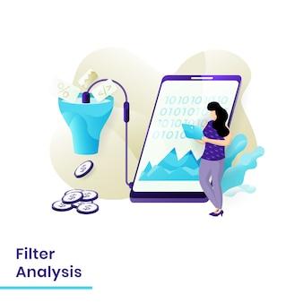 Modèle d'analyse de filtre