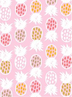 Modèle d'ananas mignon simple