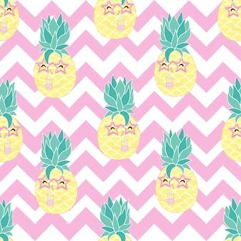 Modèle d'ananas sans couture