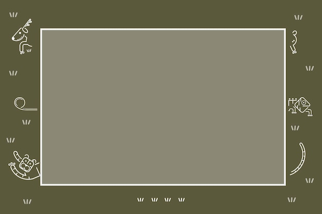 Modèle d'animaux sur un vecteur de modèle de carte verte