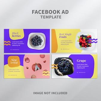 Modèle d'annonce facebook de fruits colorés
