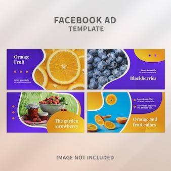 Modèle d'annonce facebook de fruits