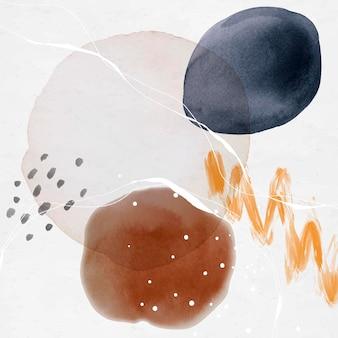 Modèle d'annonces sociales cercles aquarelle abstrait coloré