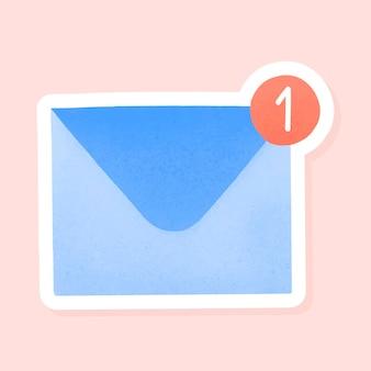 Modèle d'annonces sociales d'icône de boîte de réception de médias sociaux