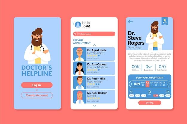 Modèle d'application de réservation médicale