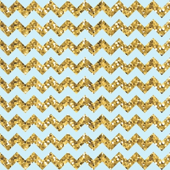 Modèle aqua zigzag avec effet pailleté d'or